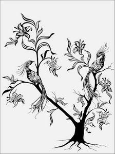 дерево с цветами № 1517