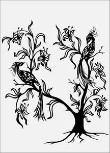 дерево с цветами № 1576