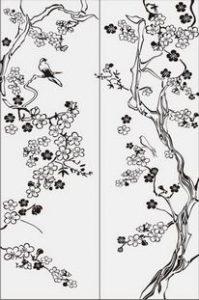 дерево с цветами № 2009