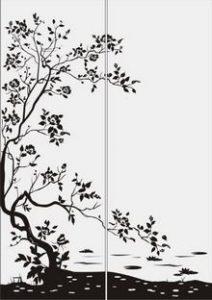 дерево с цветами № 2094
