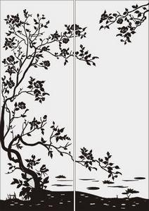 дерево с цветами № 2263