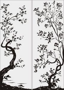 дерево с цветами № 2266