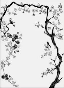 дерево с цветами № 3156