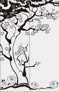 дерево с цветами № 3536