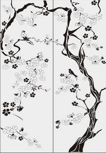 дерево с цветами № 3875