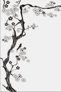 дерево с цветами № 4303