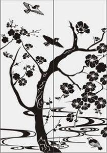 дерево с цветами № 4542