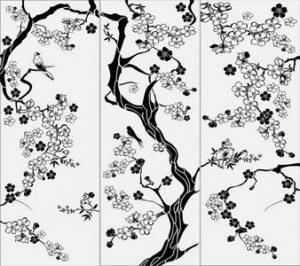 дерево с цветами № 5330