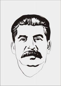 Векторный рисунок Сталин