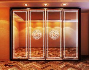 Пескоструйный рисунок версаче 4 двери